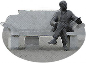 Percy French statue, Ballyjamesduff